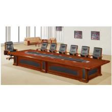 Table de réunion de meubles de conférence de placage en bois de cerisier