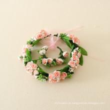 guirlanda de flores para bebés / guirlanda de noiva para festa de casamento crianças / mão cabelo guirlanda
