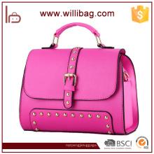 Bolso de mano colorido del cuero del bolso de la mujer del diseño único