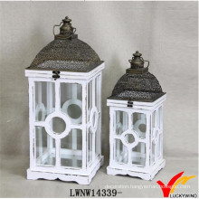 Wedding Glass Wood Handcrafted Lantern Antique Lantern