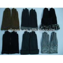 Nuevos guantes de lana de invierno estilo guantes