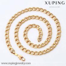 42335- Xuping Men Fashion Necklace con 18 quilates chapado en oro