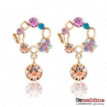 Boucle d'oreille en cristal plaqué or 18 carats Brincos (ER0007-C)