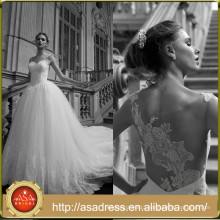 AR12 Latest Style High Quality Illusion Back Ball Gown Wedding Dress Custom Made