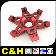 China de fábrica de aluminio CNC de mecanizado de piezas para la anodización