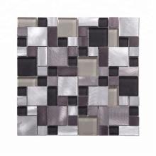 Mixed colors kitchen backsplash blend square mosaic tiles