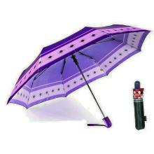Imprimer Parapluies coupe-vent de qualité 3 plis en satin (YS-3FA22083963R)