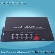 Voz FXO / FXS pots multiplexador de fibra fxs gateway Telefone Fibra Óptica Multiplexer adaptador de telefone voip