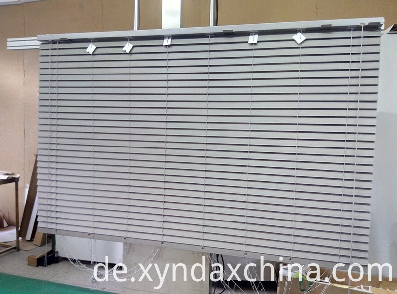 grey fauxwood venetian blinds