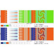 tissu imprimé pigmenté circulaire en polyester
