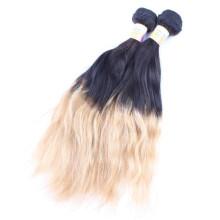 graues und schwarzes brasilianisches Haar, natürliches Ombre-Gewebe