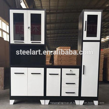 Armário novo da base da banca da cozinha do metal do projeto com estrutura de KD