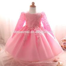 Bébé robe de conception Toddler fille dentelle robe de baptême blanc tulle infantile princesse robe de baptême bébé filles 1ère tenues d'anniversaire