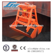 6-12cbm одиночный канат беспроводной пульт дистанционного управления грейферный ковш для кранов на продажу