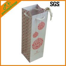 customized 1 bottle wine art paper hold bag