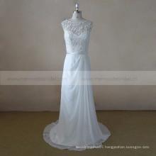 2017 A Line Beach Chiffon Boho Wedding Dress Detachable Skirt