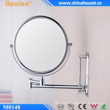 """Miroir cosmétique réglable de salle de bain rond de 6 """"et 8"""" avec loupe"""