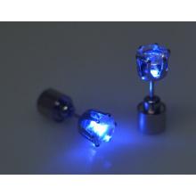 7 cores Led brinco de diamante