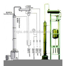 High effect alcohol distilling tower
