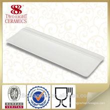Wholesale royal bone china crockery table ware, white sushi plate for restaurant