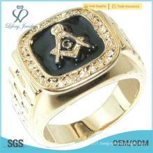 Gold Plated Masonic Mason Logo Men's Ring