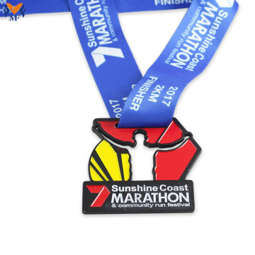 Finisher medallas carrera personalizada para eventos de maratón