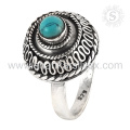 Top Verkauf skyey türkis Edelstein Ring Schmuck 925 Sterling Silber Ring Schmuck Exporteur