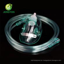 Máscara de oxigênio médica com tubo de alimentação de 7 pés