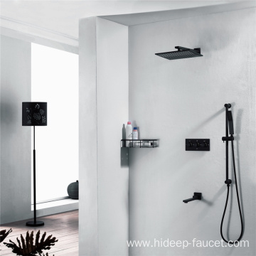 Four Function Brass Rain Shower Faucet Set