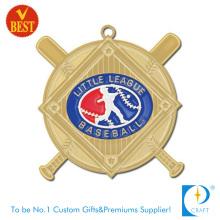 Großhandels-hochwertiges weiches Emaille-Goldüberzug-3D-Baseball-Medaille mit Backen-Lack