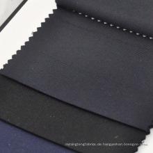 marineblaue und schwarze Twill Anzugstoffe Wolle Kaschmir Mischgewebe für Schneiderei und Großhandel