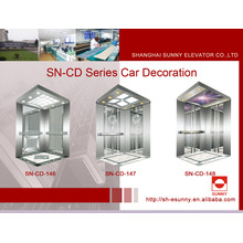 Cabine de elevador com painel lateral de aço inoxidável (SN-CD-146)