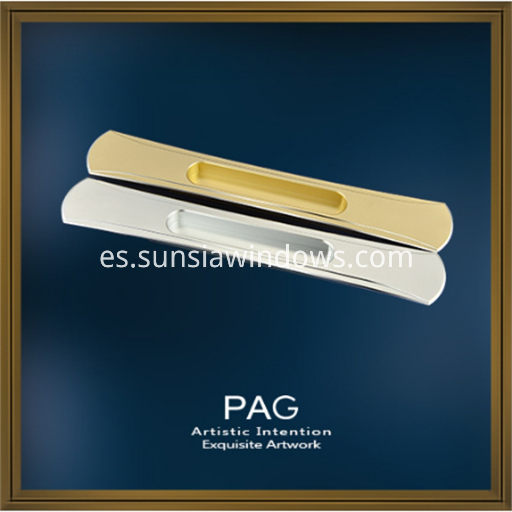 Anodized Aluminium Alloy Sliding Door Recessed Handle