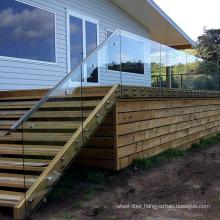 Aluminum track glass balustrade railing