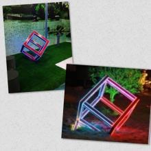 Rubik's Cube Lampe de jardin