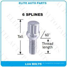 6 Spline Lug Schrauben für Auto-Rad