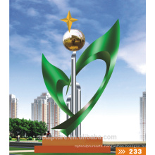 2016 New 304 Stainless Steel Statue High Quality Fashion Urban Statue Sports Metal Sculpture Colorful Landscape Sculpture