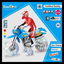Children toy with transparent wheel stunt motorcycle toy