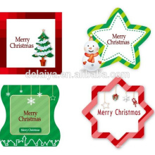 Christmas heart shape paper gift tags/hang tag wholesale in China
