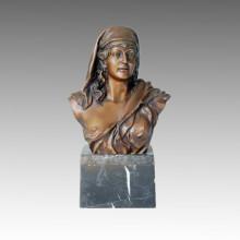 Busts Statue Ancient Female Bronze Sculpture TPE-056