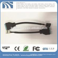 USB3.0 à 2.0 Adaptateur Câble / SB 3.0 20Pin Femelle À 2.0 9Pin Mâle Carte mère Adaptateur Convertisseur Câble PC Portable