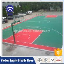 Outdoor material PP esportes quadra de basquete quintal quadra de bloqueio telhas