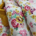 Viscose Rayon Fabric Daisy Floral Printed Fabric