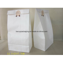White Greaseproof Paper Bag Bread Packaging Cooked Food Paper Bag
