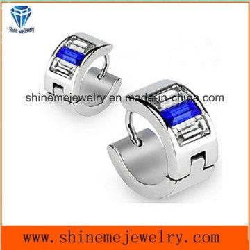 Blaue Zircon Edelstahl Modeschmuck Ohrringe (ER2649)