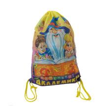 210D waterproof polyester nylon drawstring sport bag gym backpack for promotion