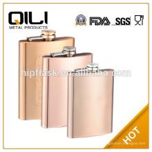 frasco de metal modificado para requisitos particulares promocional de la cadera conjunto de serie cobre frasco de la cadera