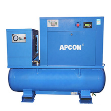 APCOM Aircompressors Industrial 10 HP 7.5 KW 10HP 7.5KW Combined Rotary Screw Air Compressor For Sandblasting