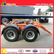 Tractor Use 2axles 30tons Dolly Semi Trailer with Towing Drawbar