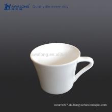 Logo Kundenspezifische hitzebeständige Kaffeetasse, keramische klare Kaffeetasse